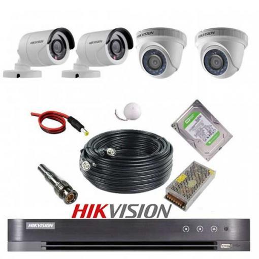 پکیج 4 دوربین هایک ویژن 2M-2D2B