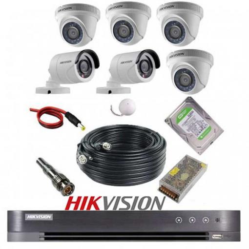 پکیج 6 دوربین هایک ویژن 2M-4D2B