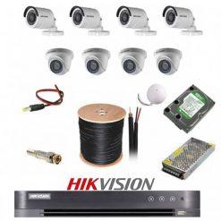 پکیج 8 دوربین هایک ویژن 2M-4D4B