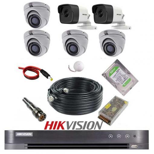 پکیج 6 دوربین هایک ویژن 5M-4D2B