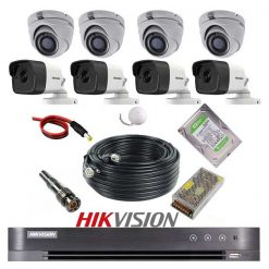 پکیج 8 دوربین هایک ویژن 5M-4D4B